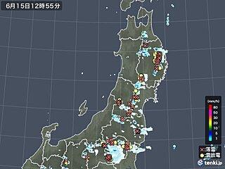 東北 14日は横手で突風被害 15日もゲリラ雷雨が進行中 天気急変に警戒