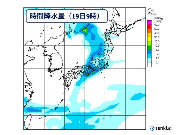 週末は広くまとまった雨に 北陸・東北も梅雨入り間近か