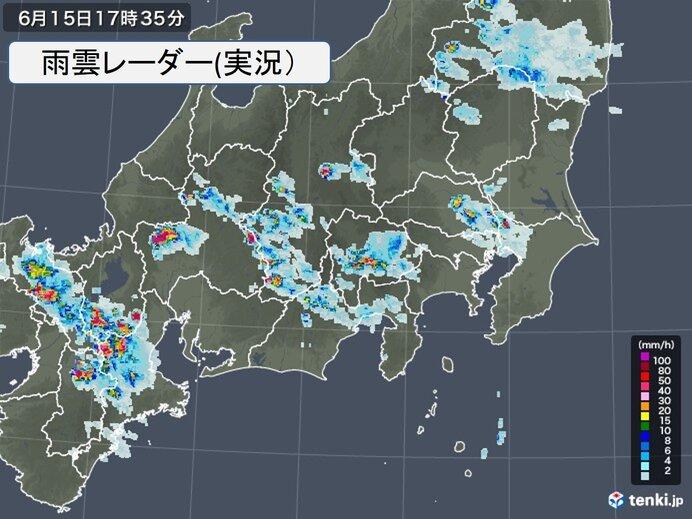 東京都内から「雨柱」や「稲妻」 今夜遅くにかけて急な激しい雨や雷雨に注意_画像