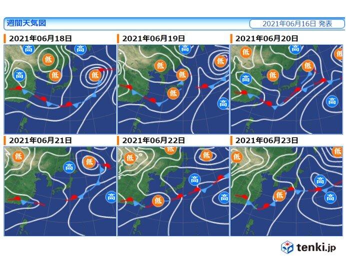 18日~19日は広く雨 来週も九州~関東を中心に雨続く 沖縄の梅雨明けは遅い?