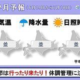 北海道の1か月予報 すっきりしない天気 気温変化は大きい
