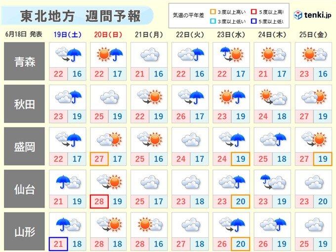 東北は梅雨入りか