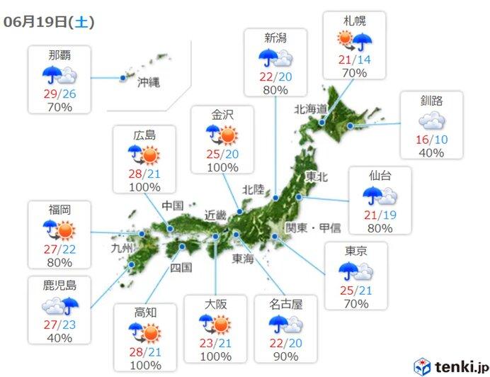 あすも広く梅雨空