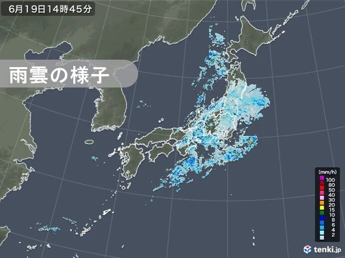 19日 近畿~東北 朝9時以降20℃くらいで経過