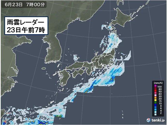 午後 天気急変 激しい雨も