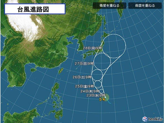台風5号北上 梅雨前線の活動 活発化