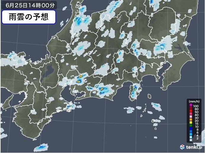 東海地方 この後の雨雲の動き