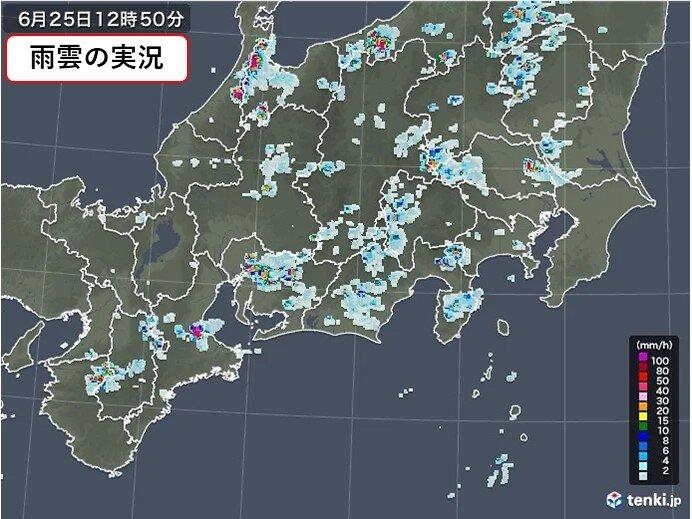 東海地方 所々で雨雲が発生 27日(日)~28日(月)はまとまった雨となる