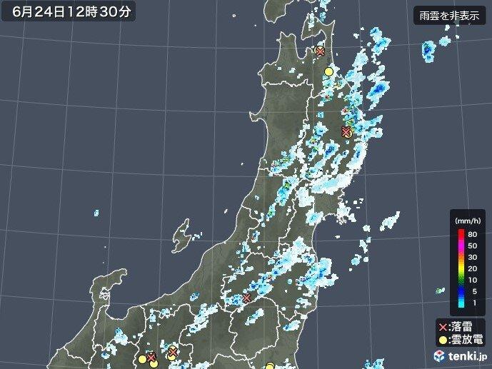 きょう(木) 雨雲が発達中 今夜にかけて雷雨に注意