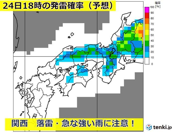 関西 雷雨3日目 週末にかけてまだ不安定な空模様続く