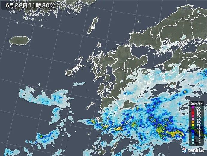 九州南部 夕方まで激しい雨のおそれ