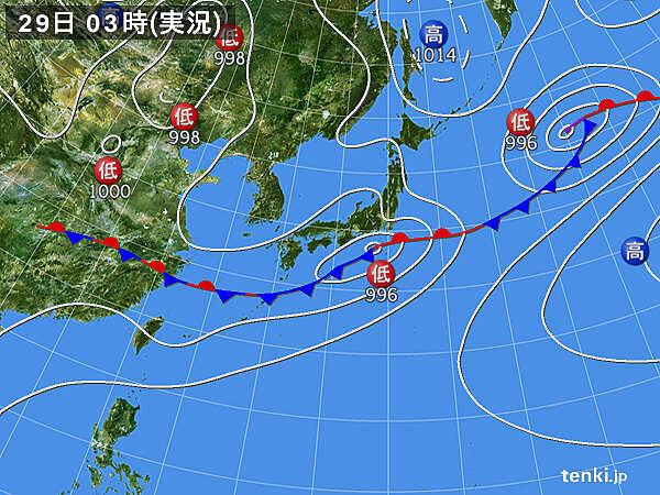 29日 沖縄は大雨による災害に厳重警戒 九州から北海道も不安定 局地的に雷雲発達
