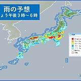 2日 関東から九州の太平洋側 あすにかけて激しい雨や雷雨の所も 土砂災害に警戒