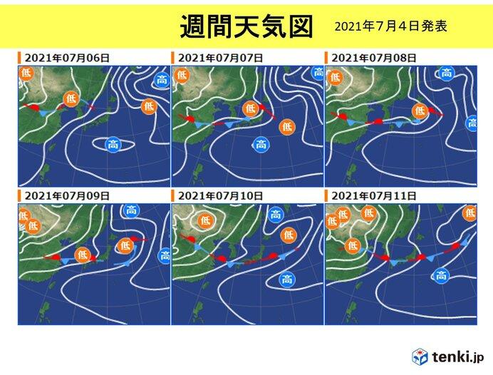 あさって6日(火)以降 7日(水)頃は北陸を中心に大雨の恐れ