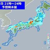 梅雨前線 今夜遅くなるほど活発化 日本海側中心に道路が冠水するような激しい雨も