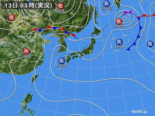 13日 関東以西の暑さ 更に強烈に