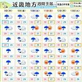 関西 10日にかけては梅雨前線の活動次第で大雨の恐れ