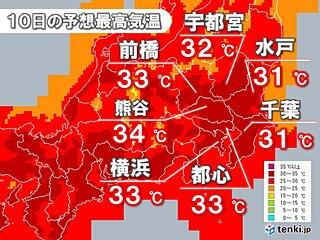 関東 今年一番の暑さ 熱中症警戒アラートも 午後は天気急変にも注意