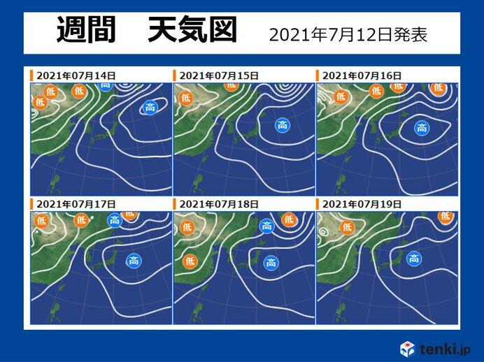 14日水曜以降 「梅雨前線」が消滅 いよいよ梅雨明け?