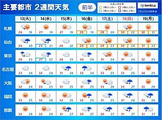 急な雨や雷雨はいつまで? 九州北部~東北の梅雨明け 最新の見通しは? 2週間天気