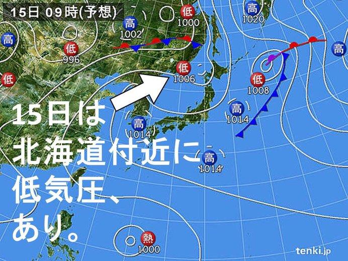北海道付近 3連休の天気は。