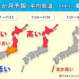 1か月予報 北日本中心に厳しい暑さ 台風にも注意が必要なシーズンに