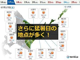 初猛暑日となった北海道 週末はさらに暑く…