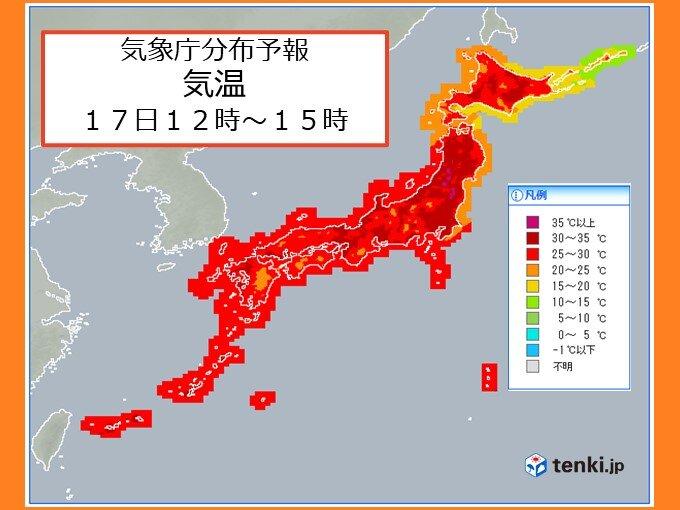 梅雨明けした関東甲信や東北 土日は猛暑日続出 熱中症に警戒