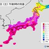 14日夜 西日本・東海エリアの天気と注意