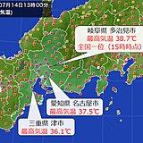 東海 名古屋など今年初の猛暑日に