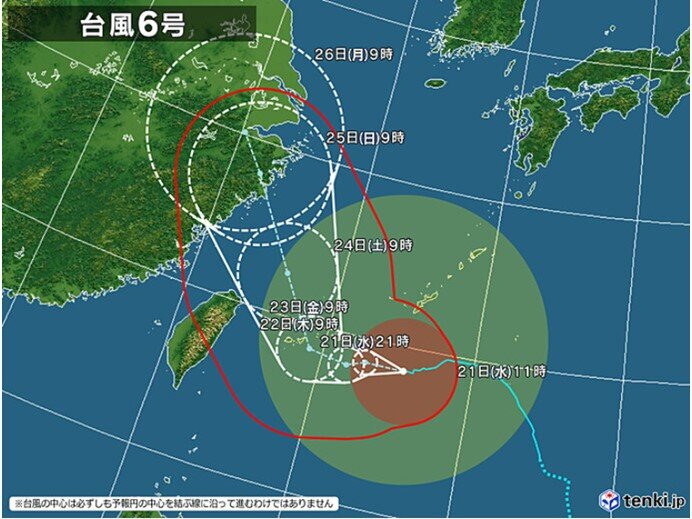 前半 22日(木)~28日(水) 台風の影響長引く