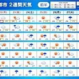 2週間天気 台風6号の影響長引く 新たな台風のたまごも 厳暑も続く
