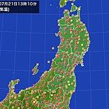 秋田県大館市35度超 7月に5日連続猛暑日は県内初 東北は今日も熱中症と大雨警戒