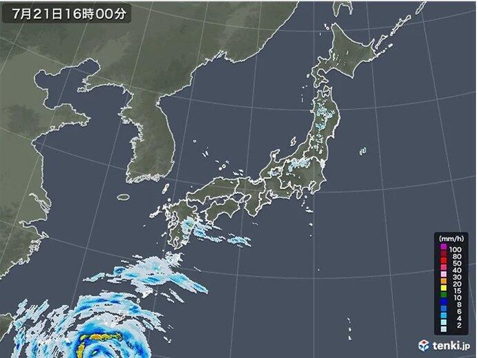 局地的に雨雲発達 岩手県で1時間に50ミリ以上の滝のような雨