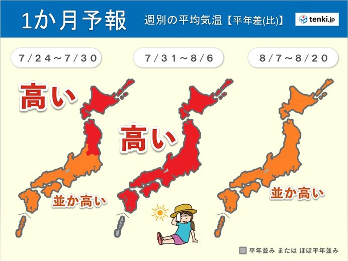 1か月予報 「猛暑」のピークまだこれから 厳しい暑さ長期戦 「台風」にも警戒