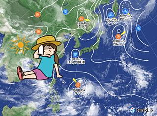 15日 続く酷暑 午後は急に激しい雨