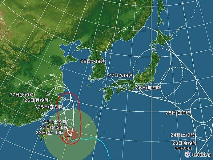 24日(土)から30日(金) 新たな台風発生へ