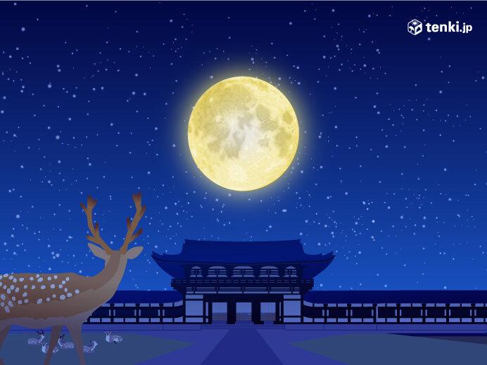 7月の満月「バクムーン」を眺めよう! 今夜もほぼ満月 見られる所は?