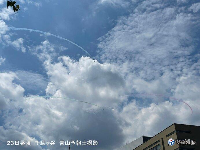 「ブルーインパルス」 東京の夏空に「5色のスモーク」_画像