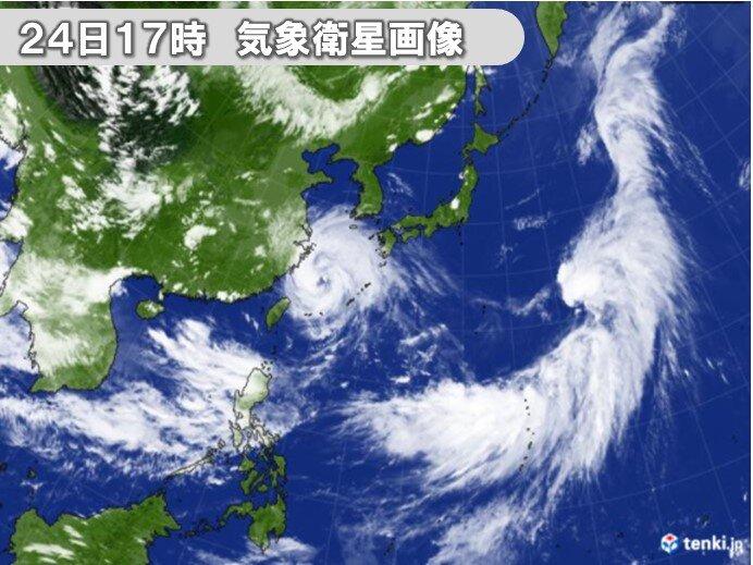 南の海上 発達した積乱雲ボコボコ発生中