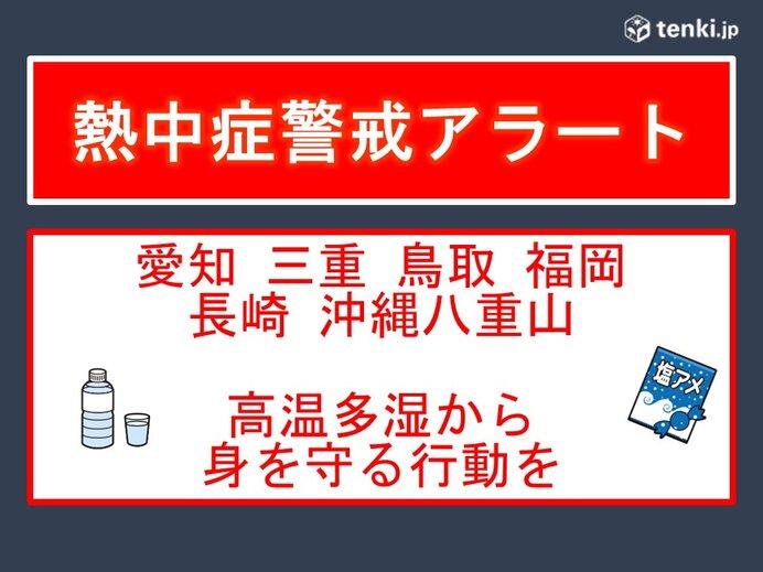 福岡など6県 熱中症警戒アラート 高温多湿から身を守る行動を