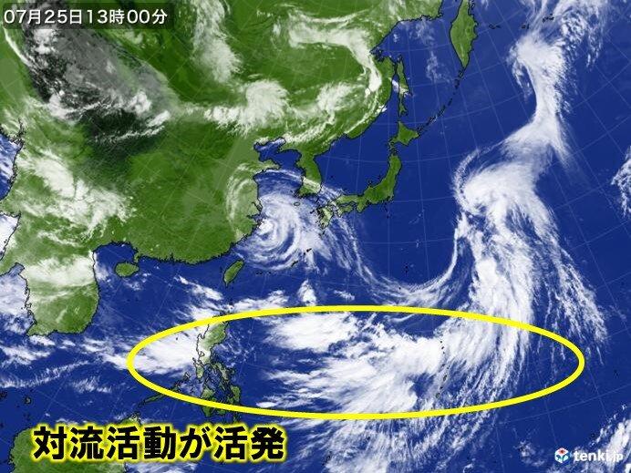 台風8号 27日(火)関東甲信や東北に上陸の恐れ 台風の北上相次ぐか 2週間天気_画像