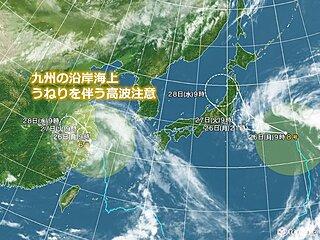 九州 今週 猛烈な暑さ続く 台風の動きは