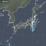台風8号 活発な雨雲や雷雲が 東北や関東に