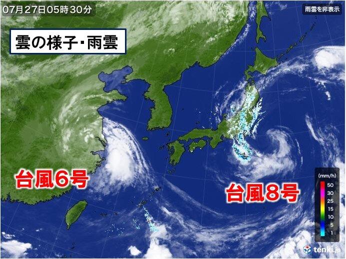台風8号 最新情報