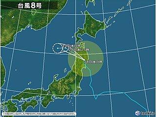 台風8号 東北を横断中 大雨は太平洋側から日本海側へ 秋田など警報級の大雨の恐れ