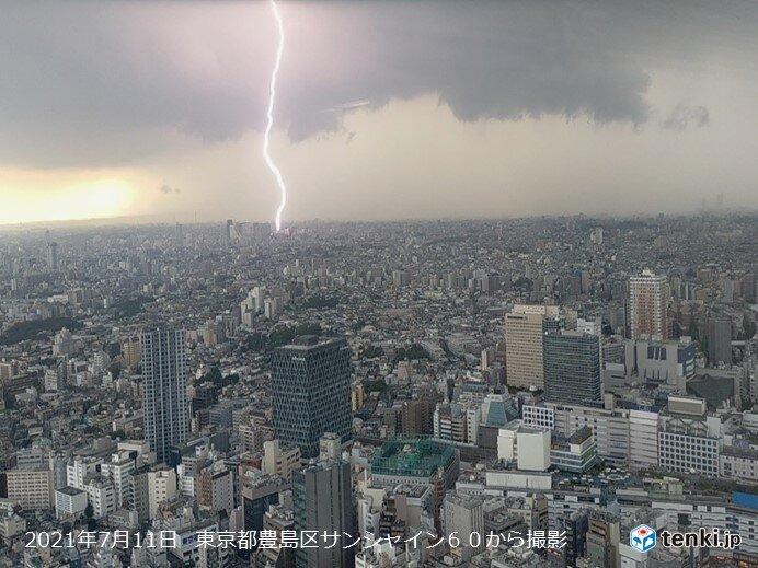 7月の雷日数 各地で今年最多も 今月いっぱい天気急変や落雷に注意