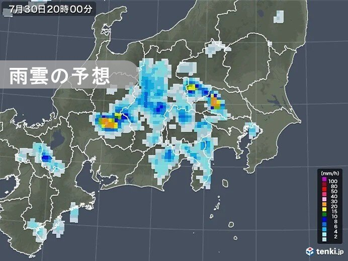 関東 夜遅くにかけて山沿いを中心に非常に激しい雨 大雨の恐れも