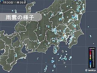 関東 午前中から所々で雨雲発達 土砂降りの雨 夜遅くにかけて局地的に大雨の恐れも