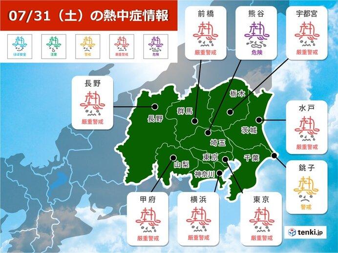 神奈川県には熱中症警戒アラートが発表
